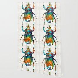 Colorful Beetle Art - Scarab Beauty - By Sharon Cummings Wallpaper
