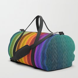 Jewel Tone Color Stripes Duffle Bag