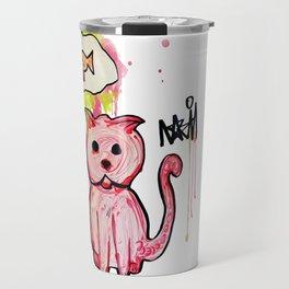 Hungry Cat Travel Mug