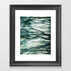 reflection of blues Framed Art Print