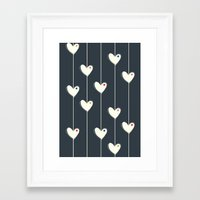 calendars Framed Art Prints featuring Heart  by Shabby Studios Design & Illustrations ..