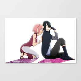 Sasusaku back home Canvas Print