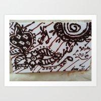 henna Art Prints featuring Henna by Amatullah Zakir