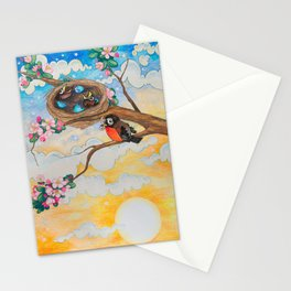 Spring: Mother Robin Stationery Cards