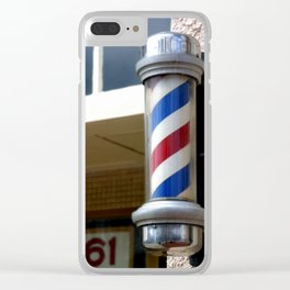 Barber Sign Clear iPhone Case