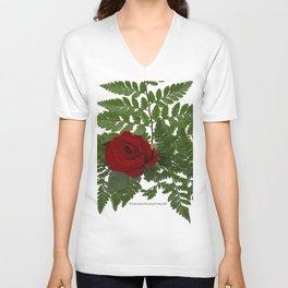 Rose in Winter Unisex V-Neck