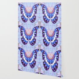 Purple Mandala Butterfly Art by Sharon Cummings Wallpaper