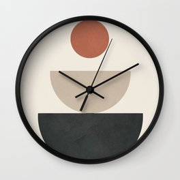 Geometric Modern Art 30 Wall Clock