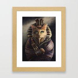 King Tutankhameow Framed Art Print
