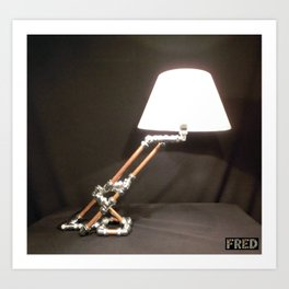Articulated Desk Lamps - Copper and Chrome Collection - FredPereiraStudios_Page_05 Art Print