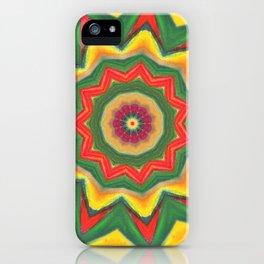 mandala yellow/green iPhone Case