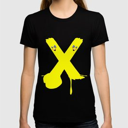 Yellow Stripe Bomb Ball and Stroke T-shirt