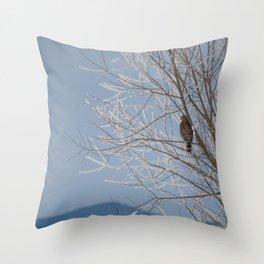 Red Shoulder Hawk Throw Pillow