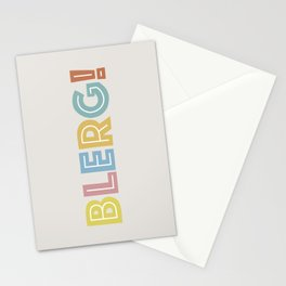 BLERG! in color Stationery Cards