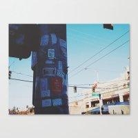 sticker Canvas Prints featuring Sticker Slaps by yo0_e.