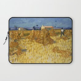 Corn Harvest in Provence by Vincent van Gogh, 1888 Laptop Sleeve