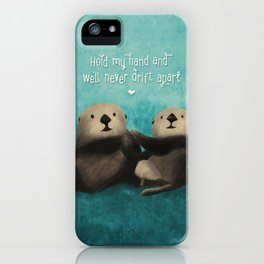 Sea Otters in Love iPhone Case