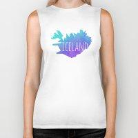 iceland Biker Tanks featuring Iceland by Stephanie Wittenburg
