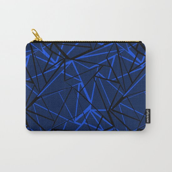Abstract Black and blue geometric pattern . Carry-All Pouch
