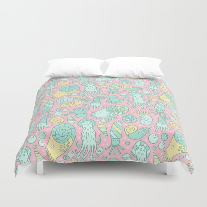 Cute Cephalopods Duvet Cover