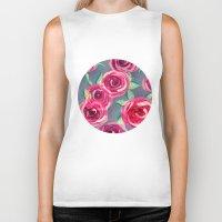 roses Biker Tanks featuring roses by Vita♥G