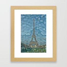 Tour Eiffel reflet Framed Art Print