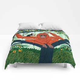 The Orangutan in The Orange Trees. Comforters