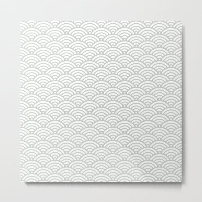 Gray Grey Mermaid Scales Sea Salt Metal Print