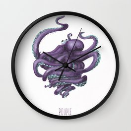 Pouple Wall Clock