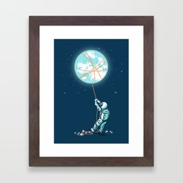 The collector Framed Art Print