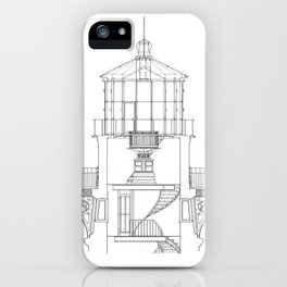 Cape Hatteras Lighthouse Lantern Room Blueprint iPhone Case