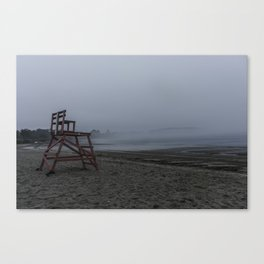 Niles Beach Foggy Evening Canvas Print