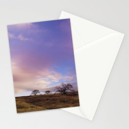 Panoramic Meadow Sunset Stationery Cards