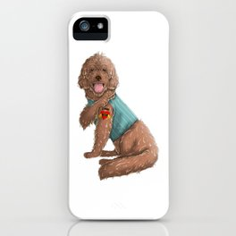 I Love Mom Tattoo Labradoodle Mom iPhone Case