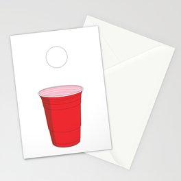 Beer Pong Illustration Stationery Cards