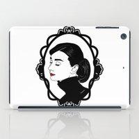hepburn iPad Cases featuring Audrey Hepburn  by Pendientera