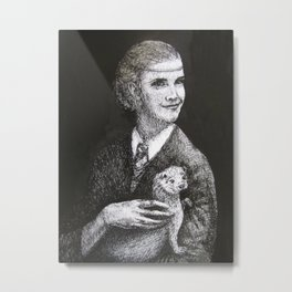 Hermione with an Otter Metal Print
