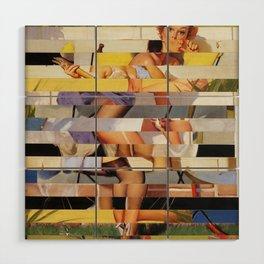 Glitch Pin-Up Redux: Isabella Wood Wall Art