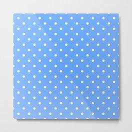 Sky Blue Polka Dots Metal Print