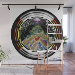 """Beez Lee Art : Love Leads Through Circle Darkness"" Wall Mural"