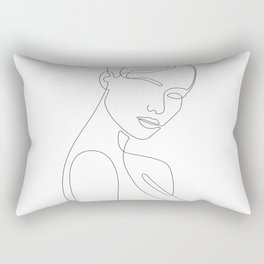 Shy Portrait Rectangular Pillow