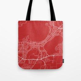 Madison Map, USA - Red Tote Bag