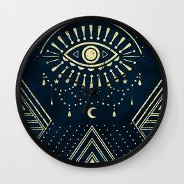 Eye Midnight Gold Wall Clock