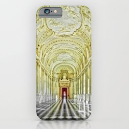 Gallery of Diana, Royal Palace of Venaria Reale, Turin Italy Portrait Painting by Jeanpaul Ferro iPhone Case