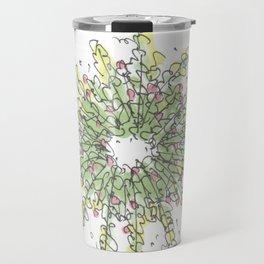 Wreath Illustration Travel Mug