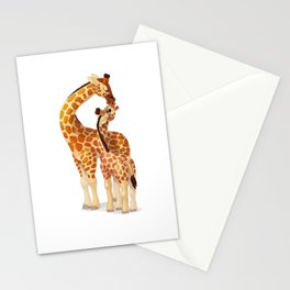 Mother and child giraffes Stationery Cards