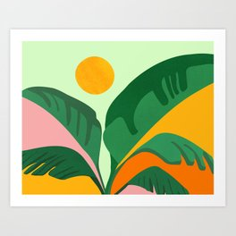 Things Are Looking Up 2 - Wide View / Tropical Greenery Art Print