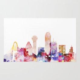 Dallas Texas City Pink Skyline Poster Rug