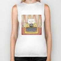 write Biker Tanks featuring write me by Asja Boros