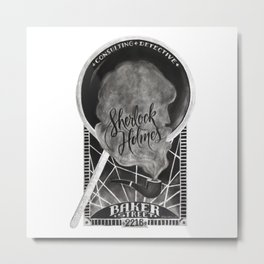 Sherlock Holmes Chalkboard Metal Print